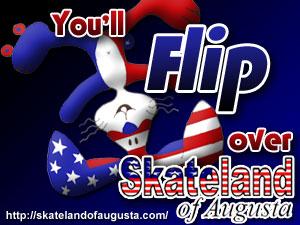 Skateland of Augusta 300x250 supercube ad