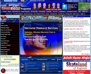 2008's wrdw.com included a side menu and larger video player.