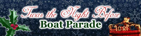 Title banner for Augusta's inaugural lighted boat parade.