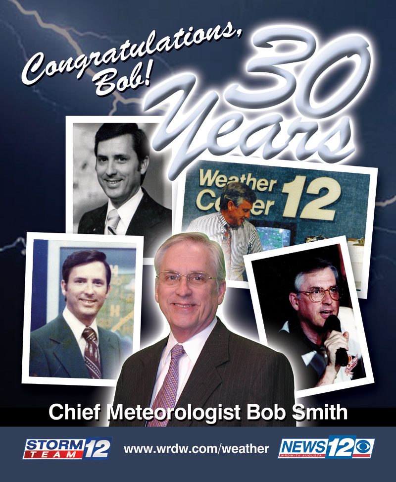 WRDW-TV chief meteorologist print ad