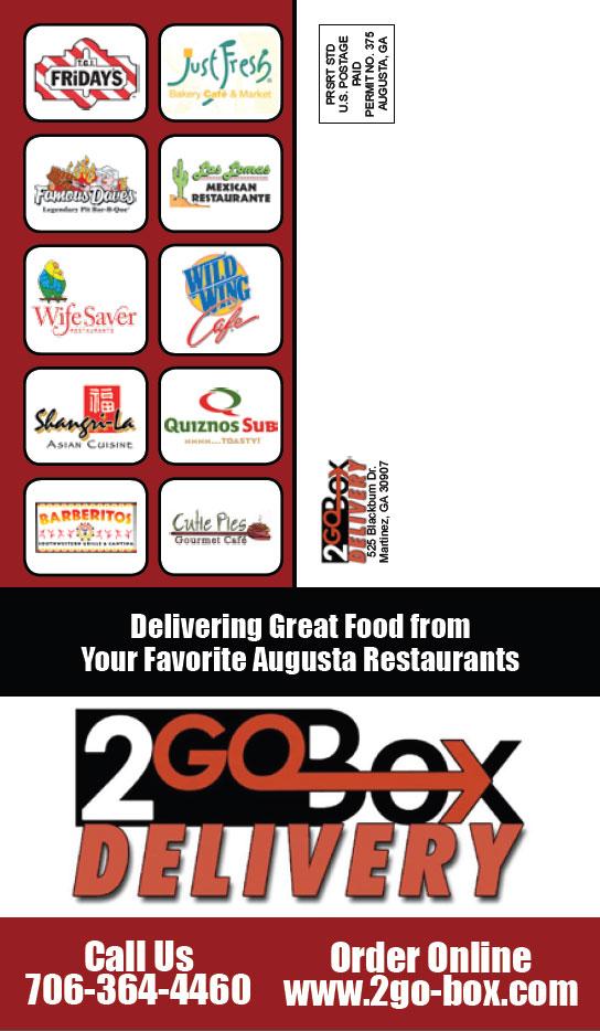 2go-Box Delivery Menu Guide back cover