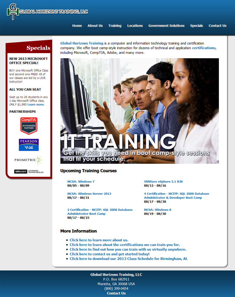 globalhorizonstraining.com screenshot