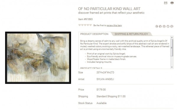 Of No Particular Kind Wall Art product description
