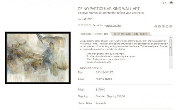 Of No Particular Kind Wall Art product description