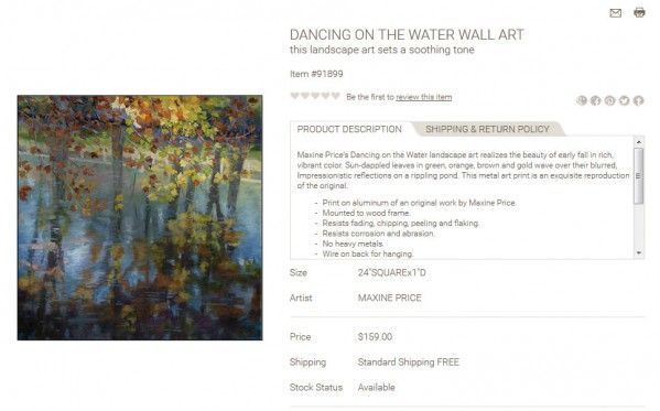 Dancing on the Water Wall Art