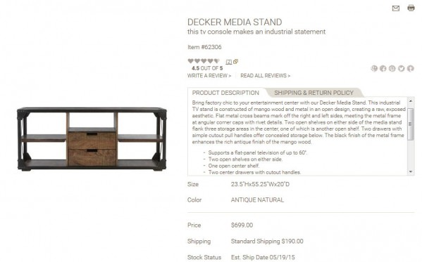 Decker Media Stand product description